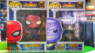 AVENGERS INFINITY WAR FUNKO UNBOXING 1ST LOOK 👀 IRON SPIDER 🕷 MAN/THANOS 👑