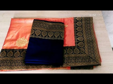 Blouse design| patchwork blouse back neck design cutting & stitching #ashwinidhoneblousedesigns