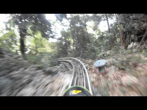 Jamaican Bobsled Roller Coaster Front Seat POV Mystic Mountain Jamaica Alpine Coaster