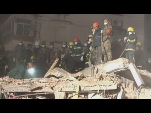 Building collapse kills woman in Ningbo City, Zhejiang Province, east China