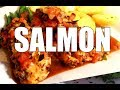 HOW TO COOK SALMON IN THE OVEN - ( SIMPLE OVEN BAKED SALMON )| Chef Ricardo Cooking