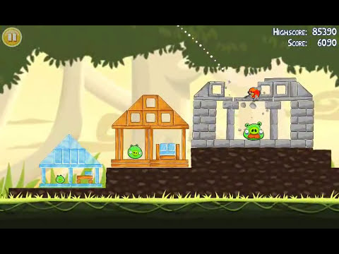 Official Angry Birds walkthrough for theme 6 levels 6-10