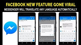 Facebook Launched Auto Translate feature | How to translate Messages in facebook messenger