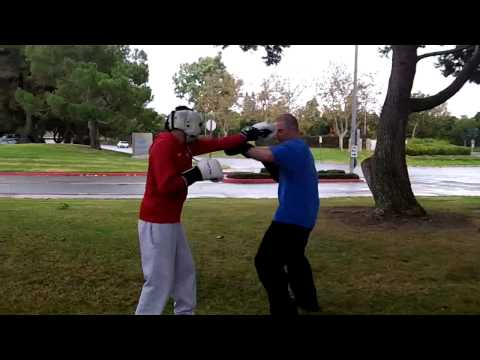 Boxing vs Muay Thai Boar Bando (hands only) Sparring at OC Open Martial Arts Meetup Image 1