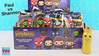 Paul vs Shannon Marvel Avengers Infinity War Collectors Keyrings Unboxing | PSToyReviews