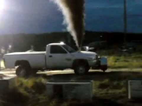 White dodge truck pull at the powassan fall fair and rodeo!!!