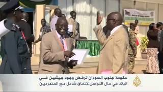 حكومة جنوب السودان ترفض وجود جيشين في البلاد
