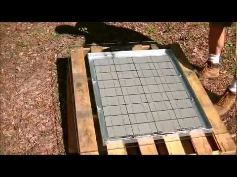 DYI solar panel encapsulate trick. Trick to get it to set up.