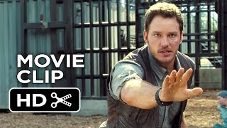 Jurassic World Movie Clip - Raptor Paddock (2015) - Chris Pratt Dinosaur Adventure HD