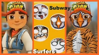 Subway Surfers & Face Tattoo Video Game | Face Painting Gameplays Creative Games for Kids