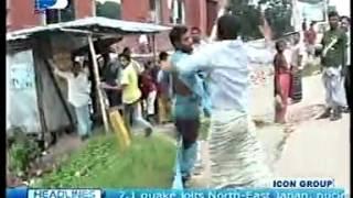 Bangladesh  Clash of Huzurs With Anti Hartal & Police In Hartal-Digonto TV-10- 07-2011