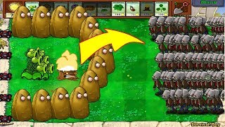 Plants Vs Zombies - 1 Threepeater vs 9999 Giga-Gagantuar