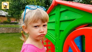 Alena and Pasha pretend play with Playhouse for kids, Funny video by Chiko TV HD Vlad IRL