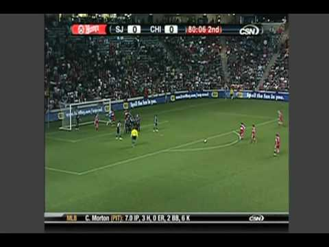 San Jose Earthquakes at Chicago Fire - Game Highlights 07/18/09 Video