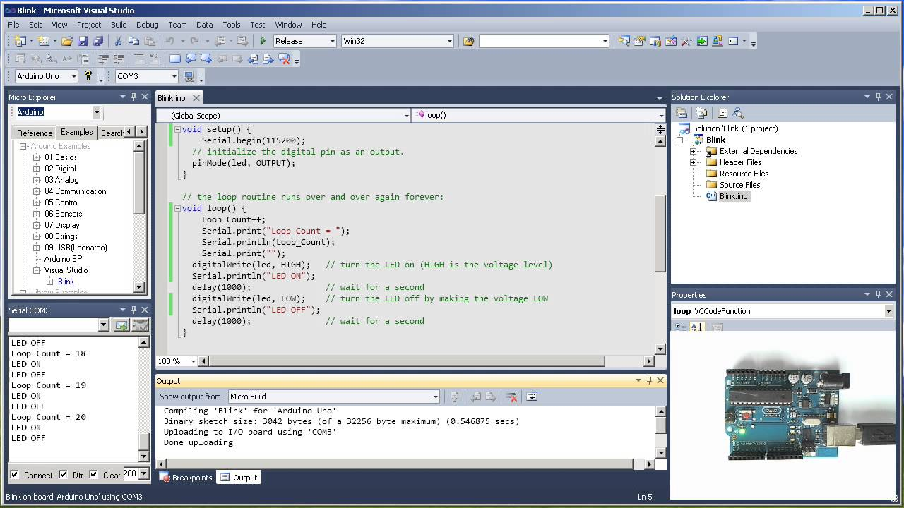 Control Arduino from ASPNET C# Web Application Interface