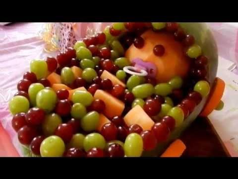 Decoraciones para baby shower youtube - Decoracion de frutas ...