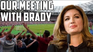 Our Meeting With Karren Brady On West Ham improving the Fans Experience!!!