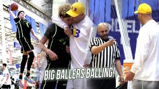 """LaMelo Starts Off HOT + Tries Dunking While Refs Break Up """"Fight"""" - Big Ballers Go UNDEFEATED!"""