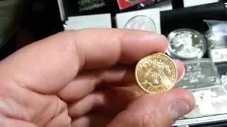 1885 Liberty Head $5 Gold Coin (Cartwheel)