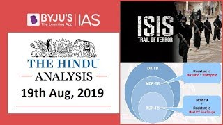 'The Hindu' Analysis for 19th August, 2019 (Current Affairs for UPSC/IAS)