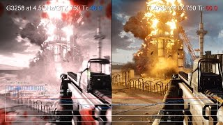 Pentium G3258 vs Core i7 4790K: Battlefield 4 on GTX 750 Ti Frame-Rate Tests