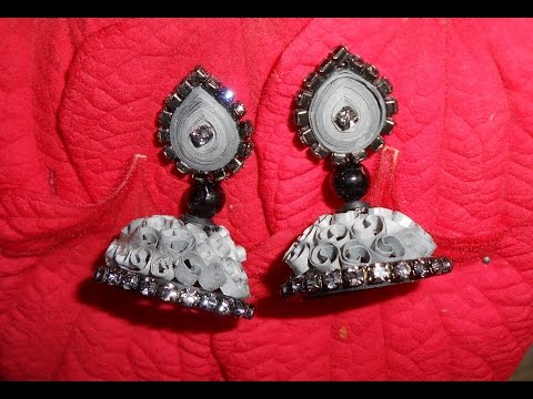 Make Quilling Quilling Jhumka Making