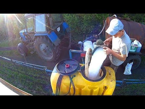 Опрыскивание 2018г. озимой пшеницы   Тест навигатора №3  #СельхозТехника ТВ