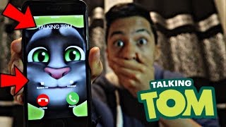 TALKING TOM CALLED ME AND I *ANSWERED OMG*