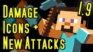 Minecraft New Damage Icons, POWER ATTACKS & Animations (1.9)