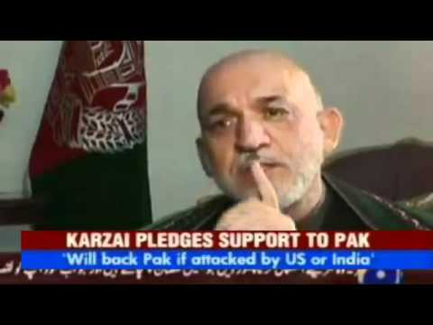 Afghanistan would back Pakistan if US or India attack: Karzai