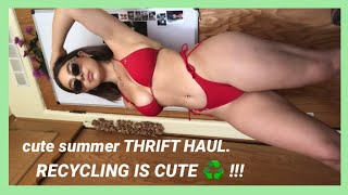 TRY ON THRIFT HAUL ♻️🌱 recycle & look cute💘