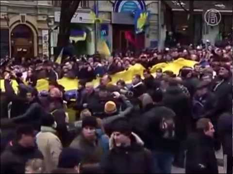 Ukraine Mass protests in Kiev on Maidan out 1 600 000 #