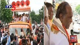 బస్సు యాత్ర మొదలుపెట్టిన బీజేపీ నేతలు..! | TBJP Leaders Face To Face | TV5 News