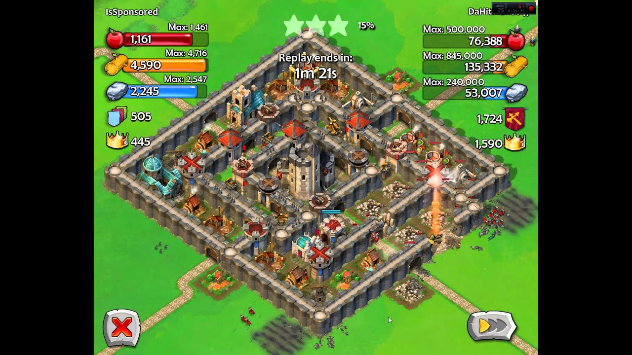 Aoe castle siege keep age 8 and wall level 10 youtube