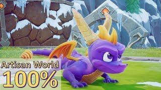 Spyro The Dragon Remastered   Artisans World 100% Walkthrough