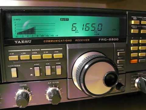 6165 khz Radio N' Djamena Chad, Rdiff.Nat. Tchadienne received with a Yaesu FRG 8800