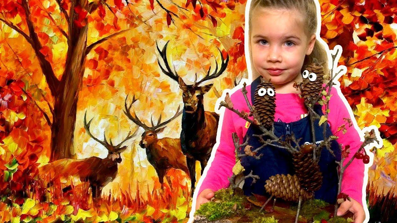Осенние поделки из шишек в детский сад своими руками 49