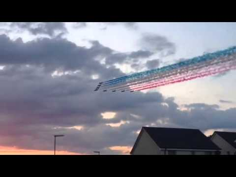 Red Arrows Commonwealth Games 2014 Flyover