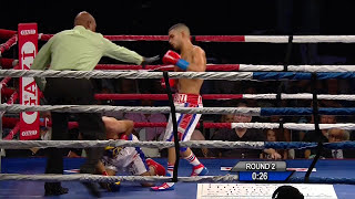Neslan Machado vs Christian Esquivel 2 rd RTD Full Fight