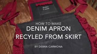 Recyle Skirt into Denim Apron