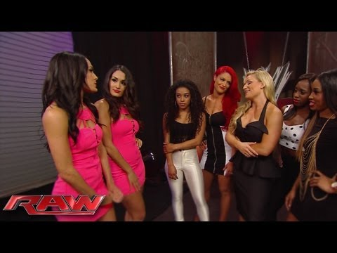 "The Bella Twins invite Eva Marie and Jo-Jo to a ""Total Divas"" cast meeting with Natalya and The Funk"