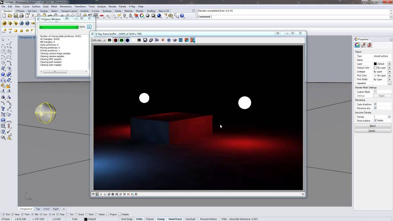 Vray for rhino emissive materials youtube for Waste material video