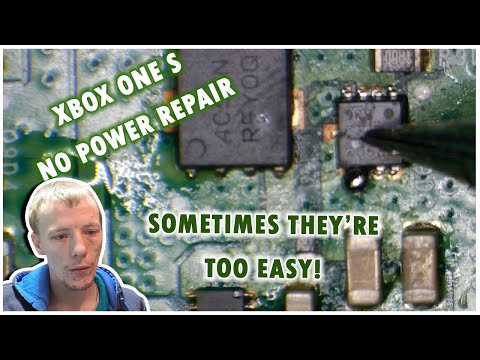Xbox One S No Power Liquid Spill Repair - Sometimes They're Just Easy Peasy!
