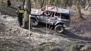 Jeep Cherokee accident off road trial Bezděkov 2013