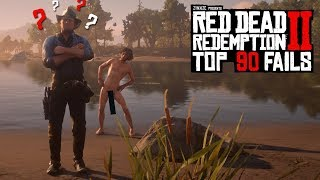 TOP 90 FUNNIEST FAILS IN RED DEAD REDEMPTION 2