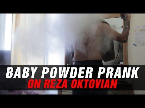 BABY POWDER PRANK on REZA ARAP OKTOVIAN!