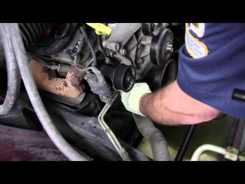 How to Install a Water Pump: 1998 - 2000 Dodge Durango 5.2L V8 RWD WP-9126 AW7160