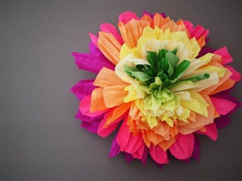 Большие цветы своими руками пошаговое фото