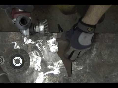 Angle Grinder How To Remove Rust And Old Paint From Metal