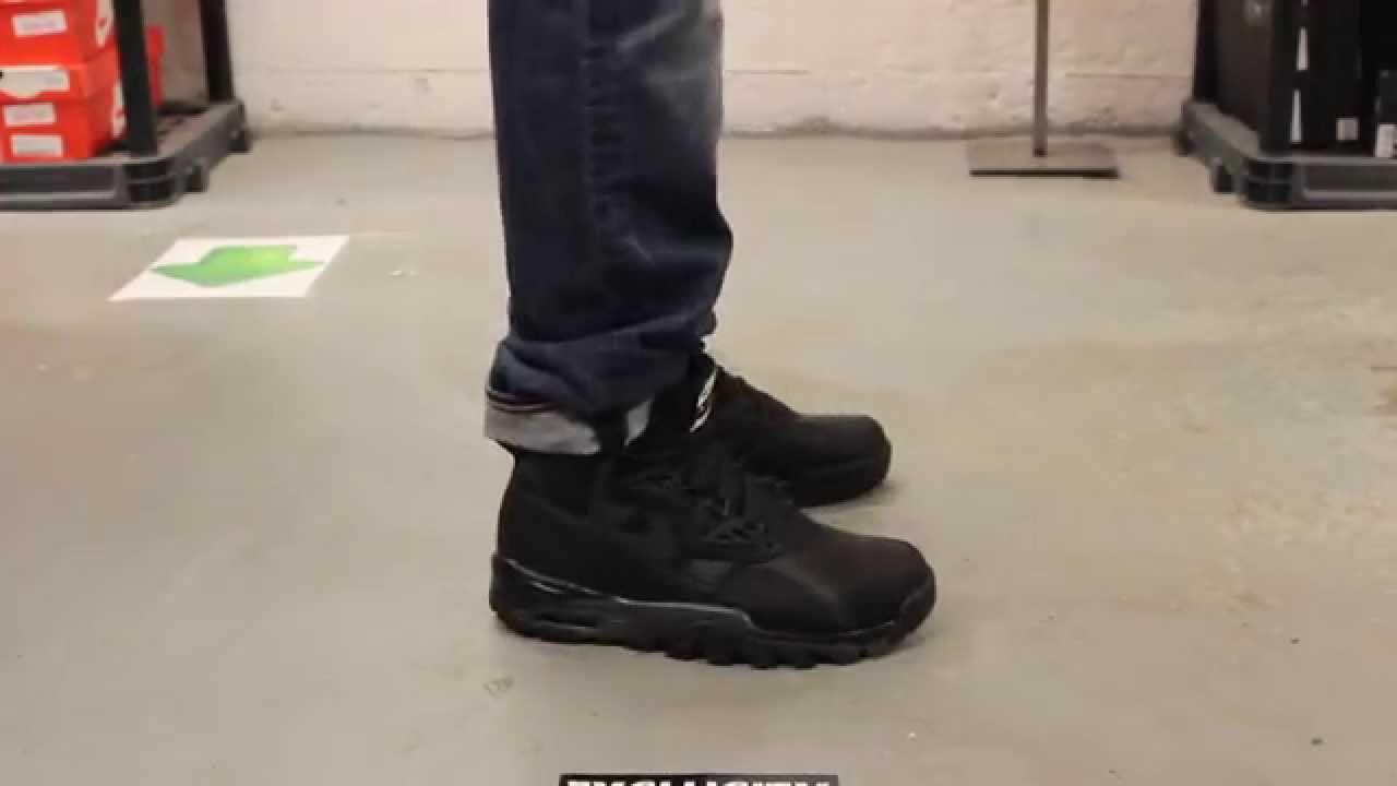 nike sc trainer sneakerboot black onfeet video at